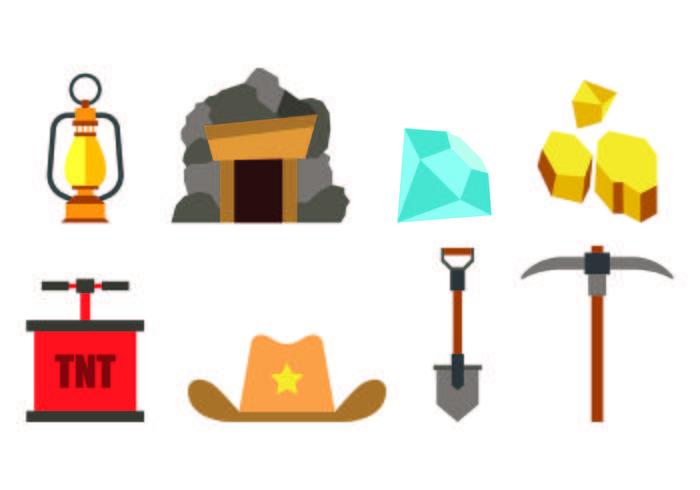 Set di icone Gold Rush