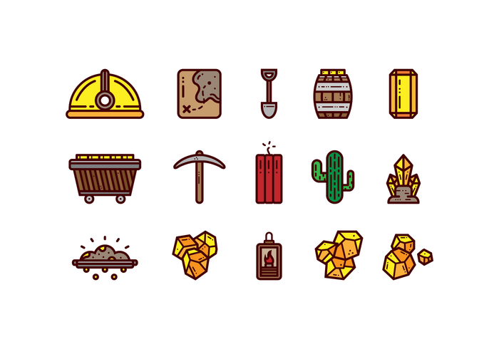 Free Gold Rush Vector Set