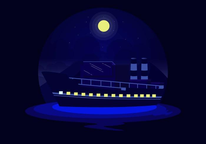Chantier naval au vecteur de nuit