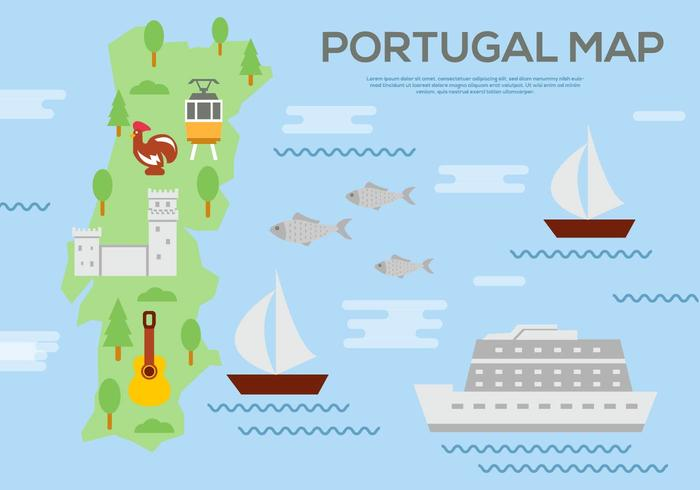 Vector livre do mapa de Portugal