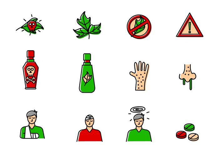 Ensemble d'icônes de poison Ivy