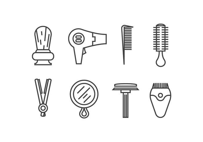 Afeitar los iconos de vectores