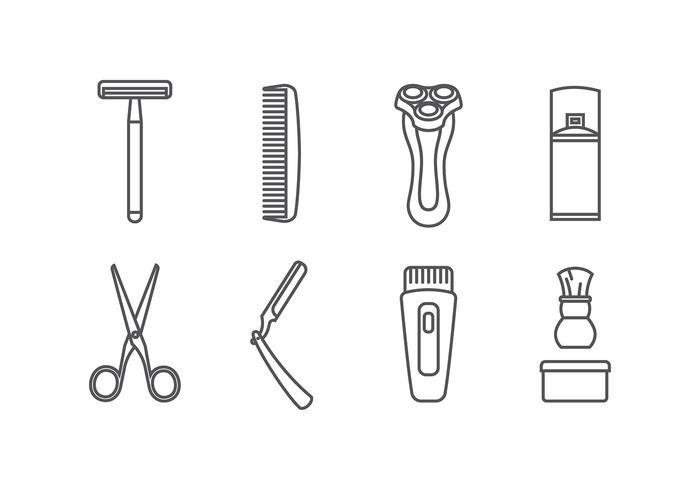 Shaver Icono Vector Libre