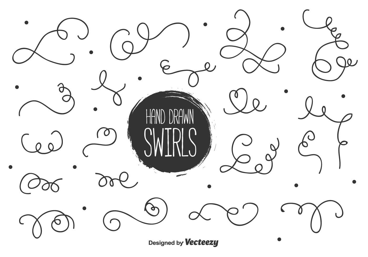 hand drawn swirl free vector art