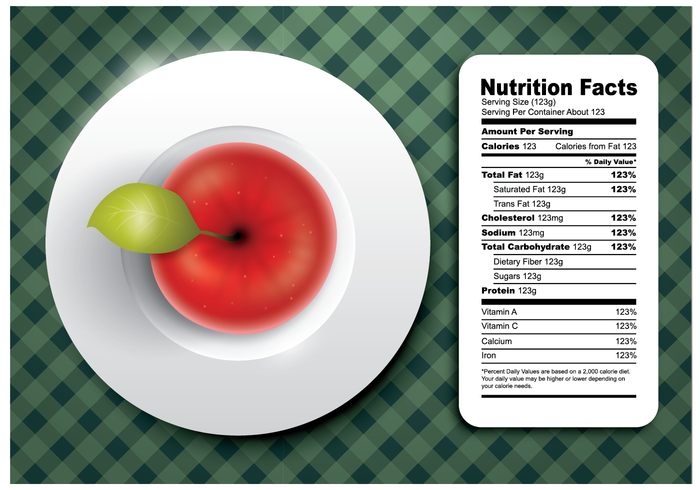 Apple Nutrition Facts Vector