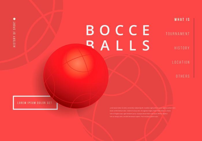 Bocce Ball Wallpaper Illustratie