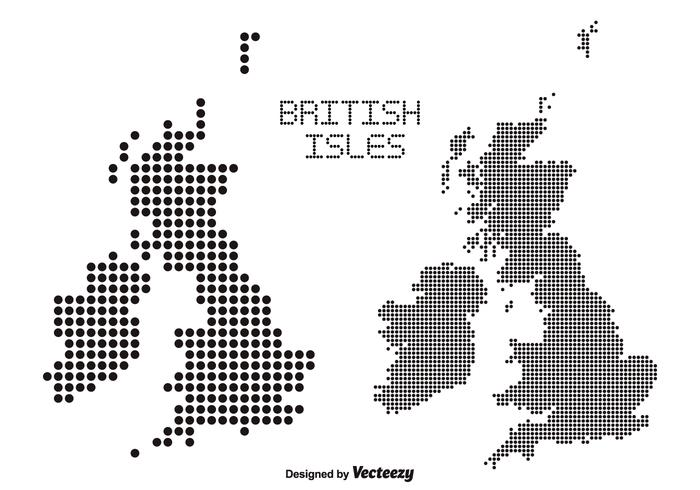 British Isles Dotted Vector Maps - Download Free Vector Art, Stock ...