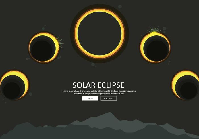 Free Solar Eclipse Phase Illustration
