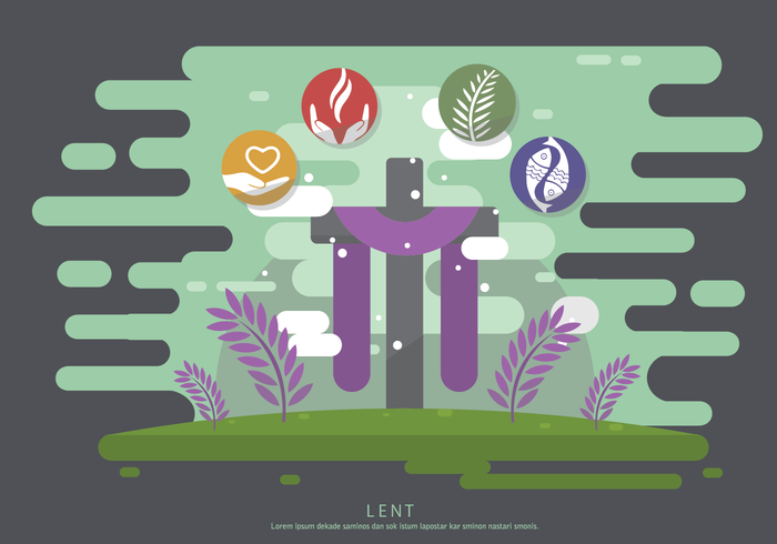 Free Lent Vector