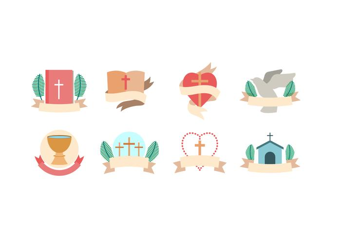 Free Cross and Churches Vector Icons