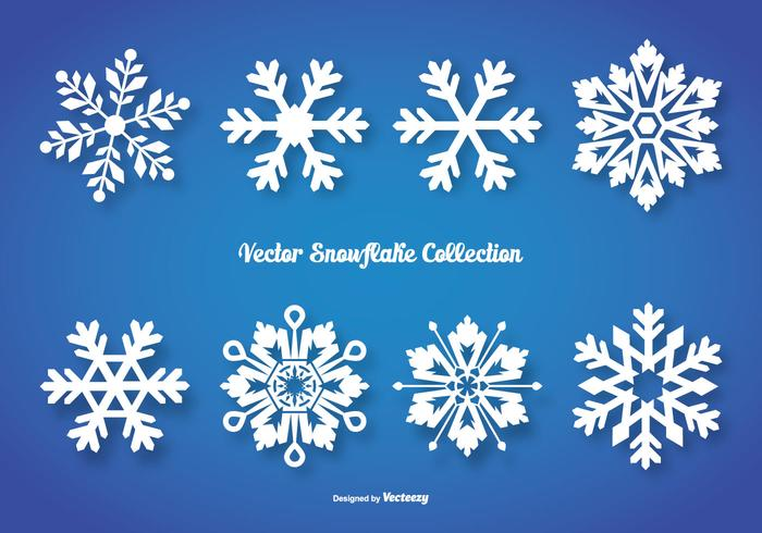 Vector Snowflake Shapes Collection
