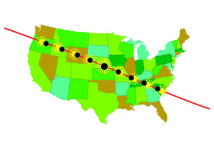 Info Of United States Solar Eclipse Path Map