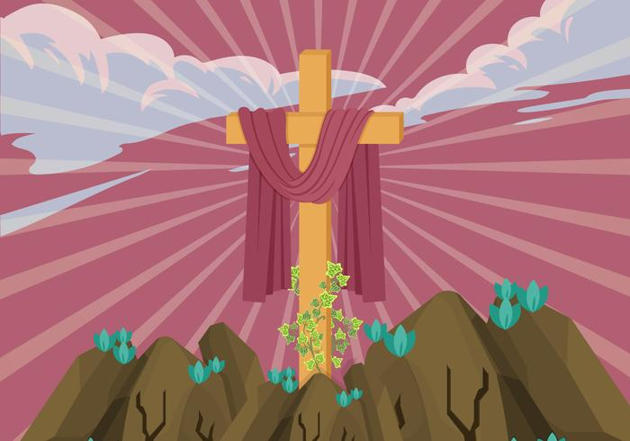 Lent Day Cross Vector Illustration