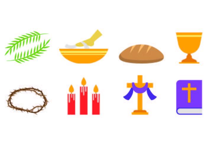Set Of Lent Icons