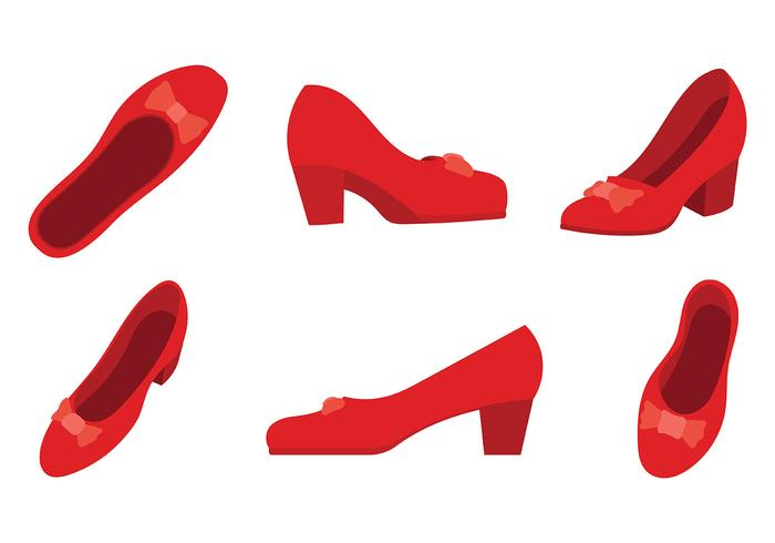 Ruby Slippers Vector Icons