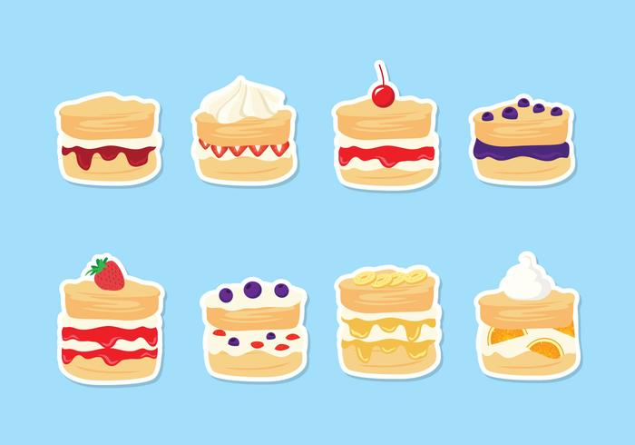 Scone in different flavors vector