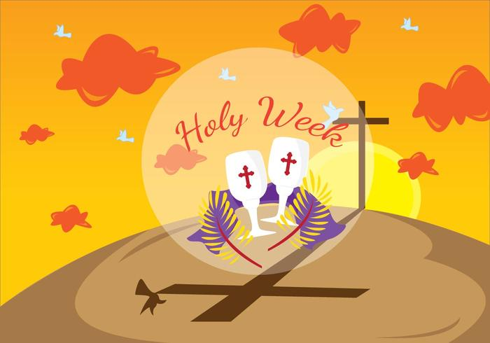 Lent Stilla veckan Illustration