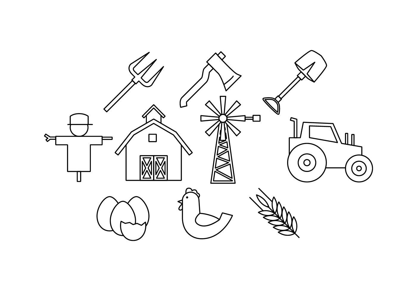 Line Art Icons Free : Free farm line icon vector download art