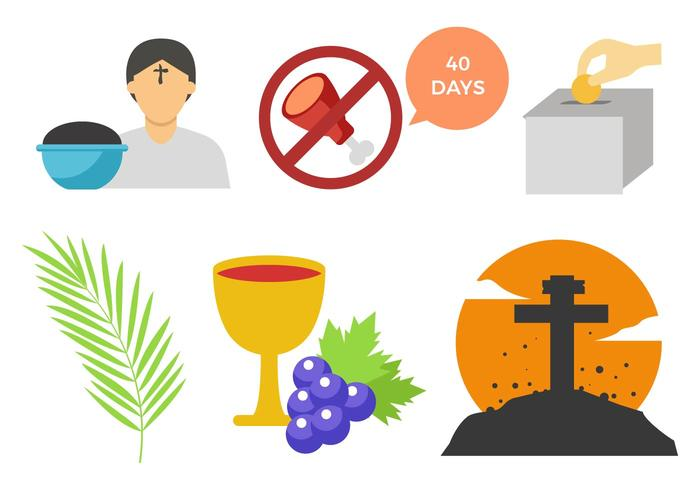 Free Lent Icons Vector