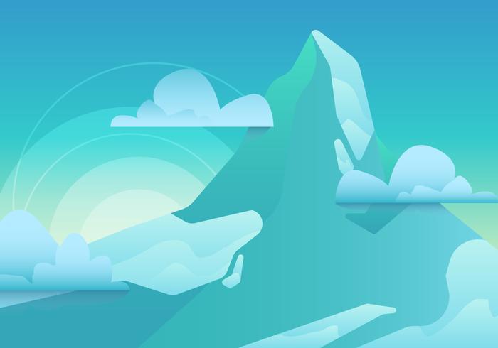 Montaña Matterhorn vector