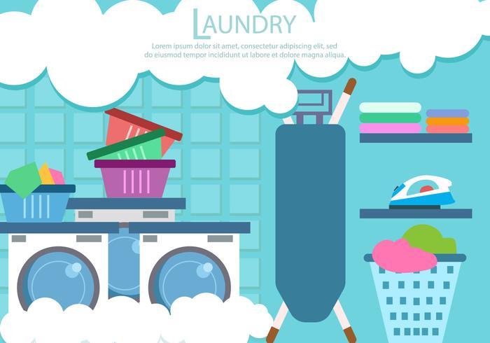 Tvätt- och strykervice Vector