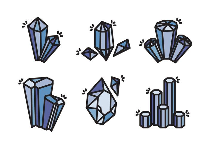 Quartz Crystal Stone Vector Icon Collection - Download ... Quartz Clipart