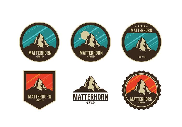 Matterhorn Badge Free Vector