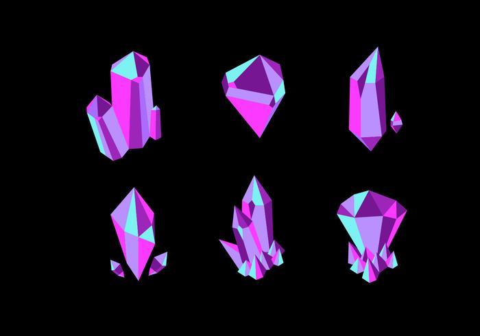 Quartz Crystal Vector Collectie