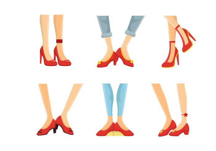 Ruby Slippers Collection Vector Illustratie