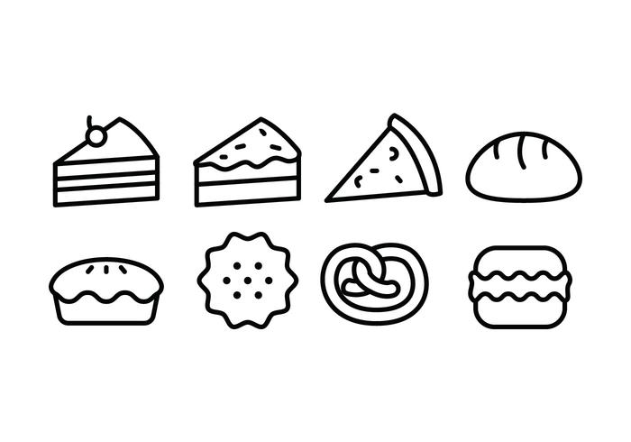 Bread and Bakery Icon Set