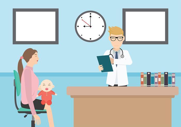 Pediatrician Illustration Free Vector