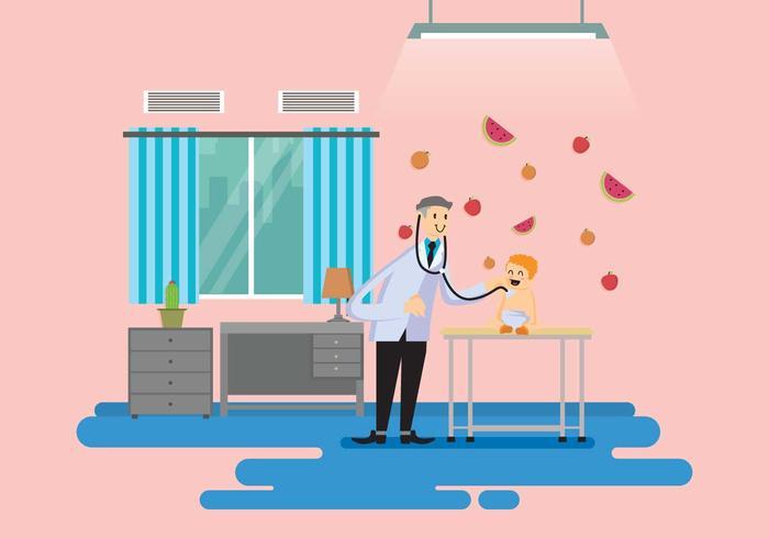 Ilustración gratuita del pediatra