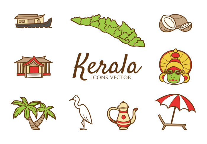 Kerala Icons Vector