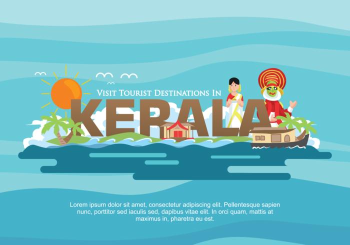 Kerala Vector Illustratie