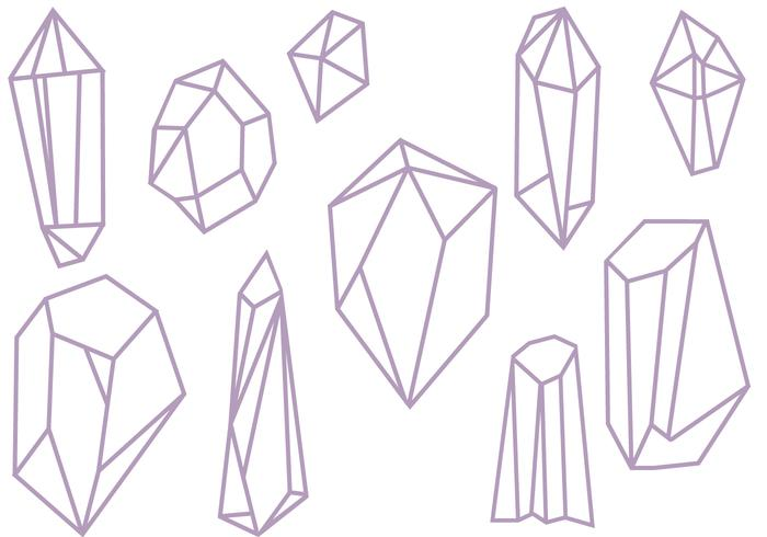 Free Crystals Vectors