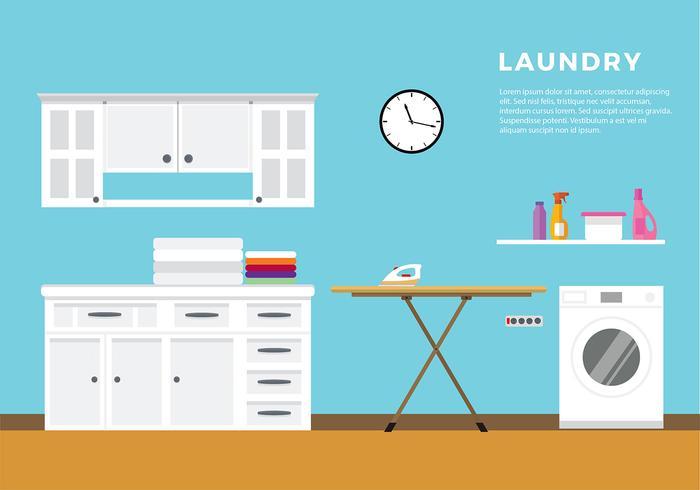 Vettore libero piano di vettore della lavanderia