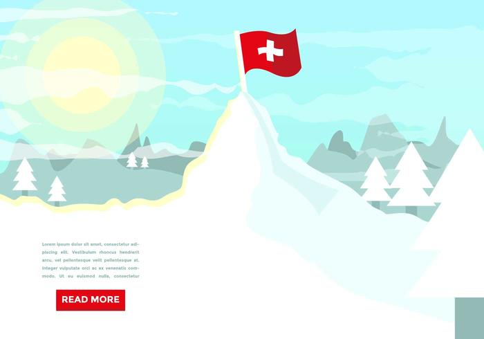 Matterhorn Mountain Switzerland Illustration Vector