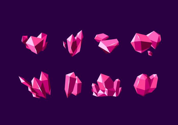 Vetor livre de minerais de quartzo