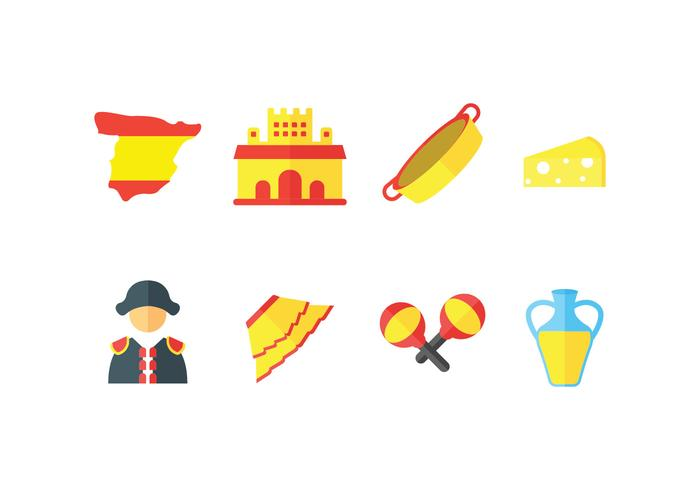 Spain vector icons