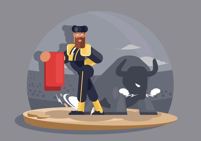 Bull Fighter Illustration