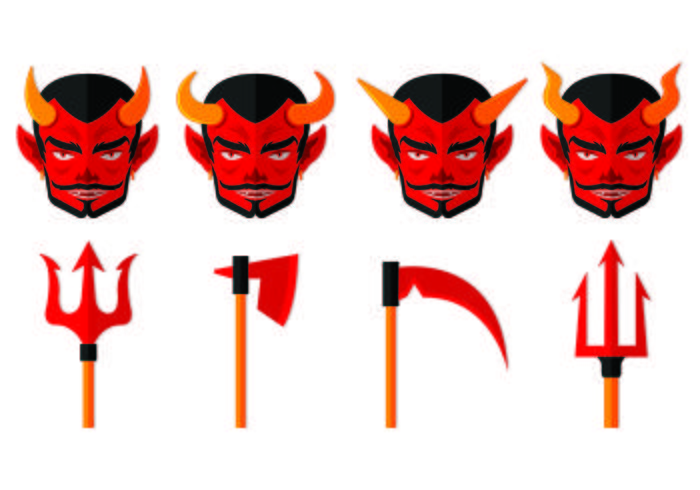 Set Of Lucifer Icons