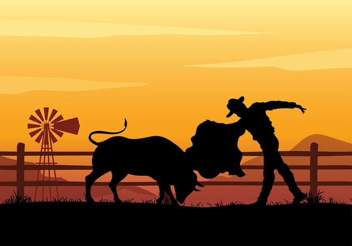 Stierkämpfer Training kostenloser Vektor