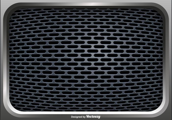 Vector Illustration Of A Speaker Grill