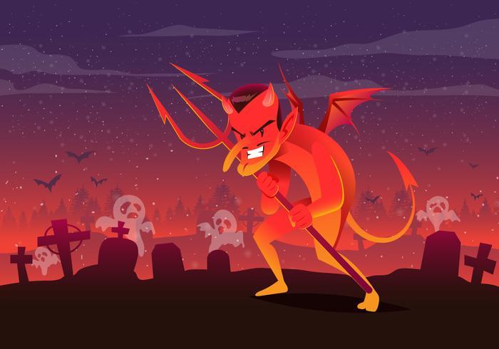 Cute Cartoon Lucifer