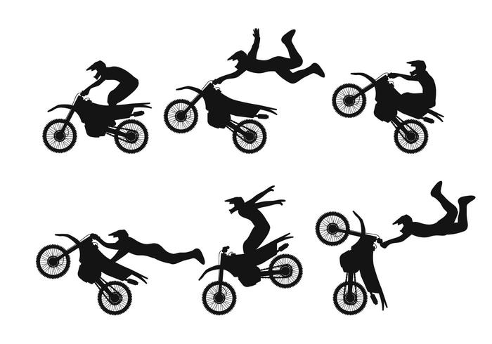 Motocross vector set
