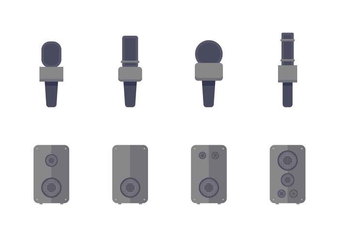 Vecteurs de grille de haut-parleur gratuits