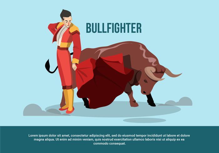 Tjurfighter vektor illustration