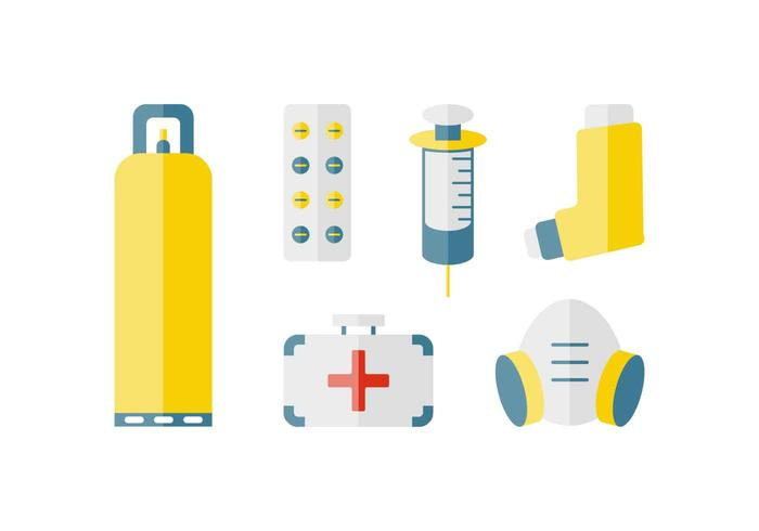 Breathing and Respirator Vector Pack