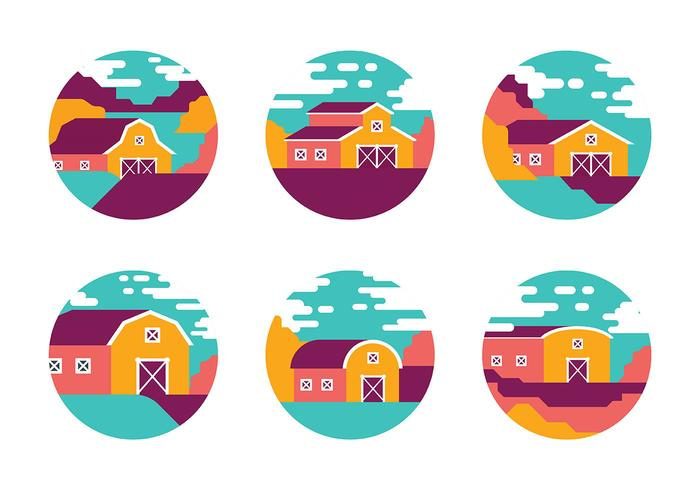 Bright Barn Vector Icons