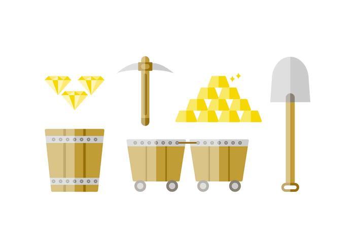 Free Outstanding Gold Rush Vectors
